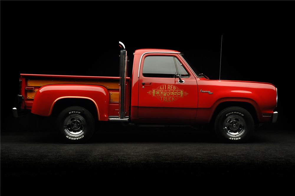 1978 dodge lil red express pickup side profile 71930. Cars Review. Best American Auto & Cars Review