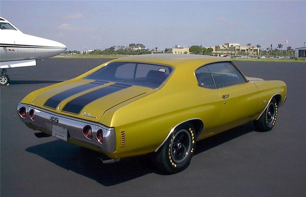 1971 CHEVROLET CHEVELLE SS 454 2 DOOR HARDTOP - Rear 3/4 - 71932