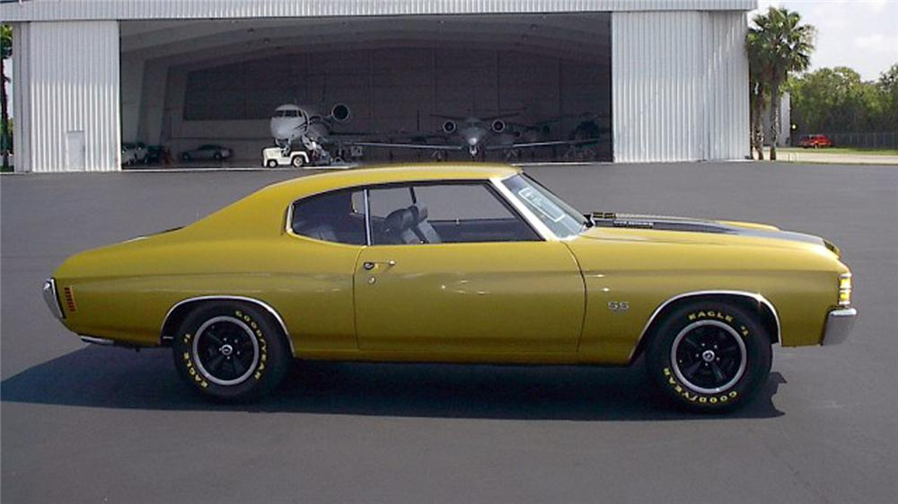 1971 CHEVROLET CHEVELLE SS 454 2 DOOR HARDTOP - Side Profile - 71932