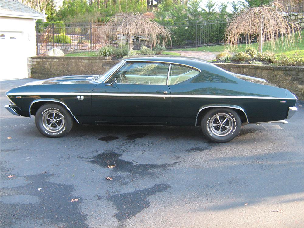 1969 CHEVROLET CHEVELLE SS 396 2 DOOR HARDTOP - Side Profile - 71933