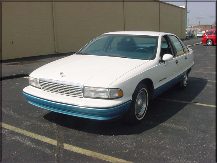 1991 CHEVROLET CAPRICE CLASSIC 4 DOOR SEDAN - Front 3/4 - 71953