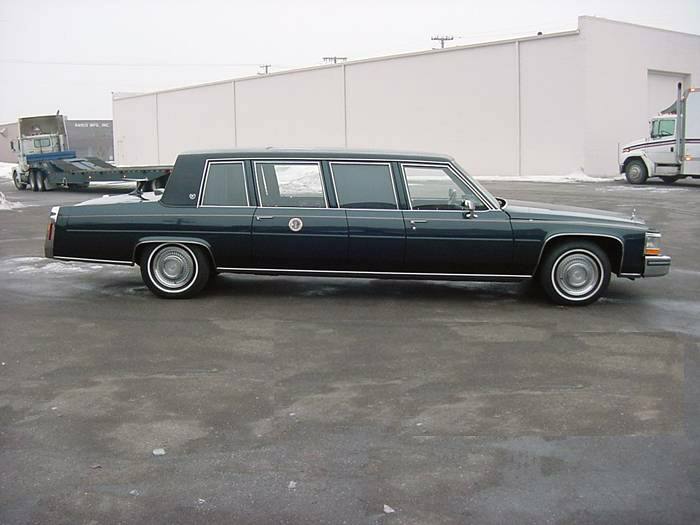"1986 CADILLAC BROUGHAM ""PRESIDENTIAL MOVIE LIMO"" - Front 3/4 - 71977"