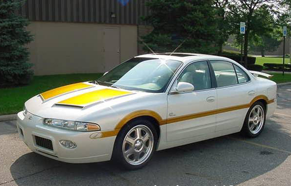 """1999 OLDSMOBILE INTRIGUE """"442"""" CUSTOM COUPE - Front 3/4 - 72001"""
