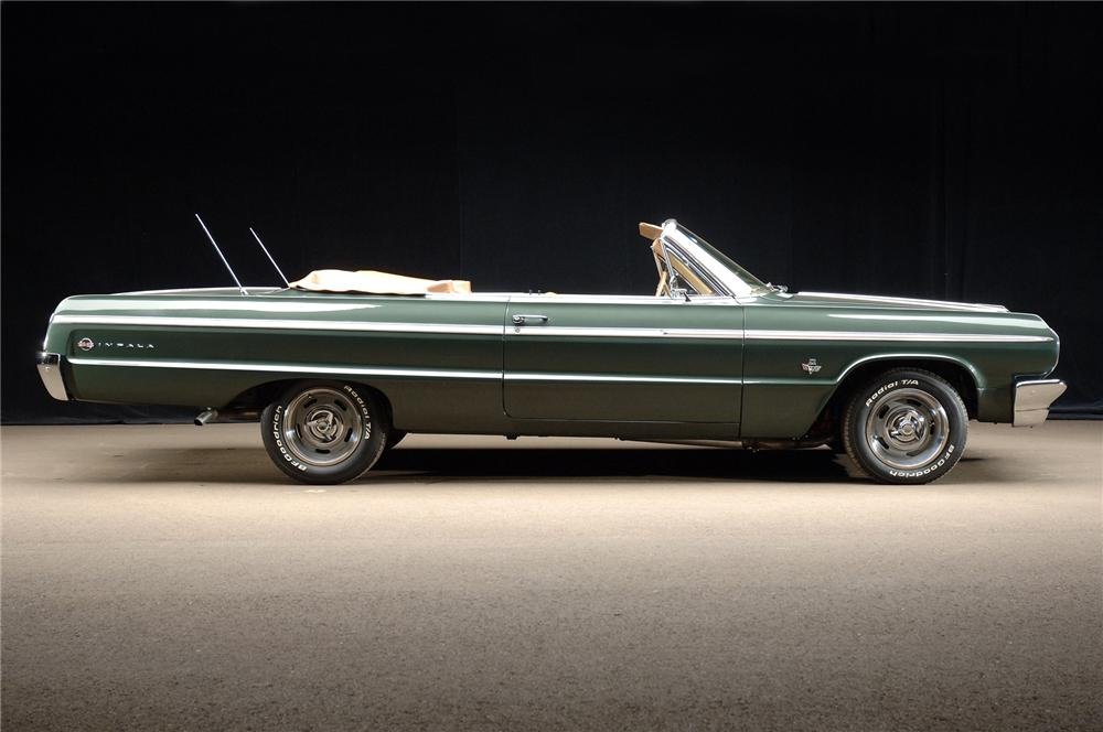 1964 CHEVROLET IMPALA SS CONVERTIBLE - Side Profile - 72039