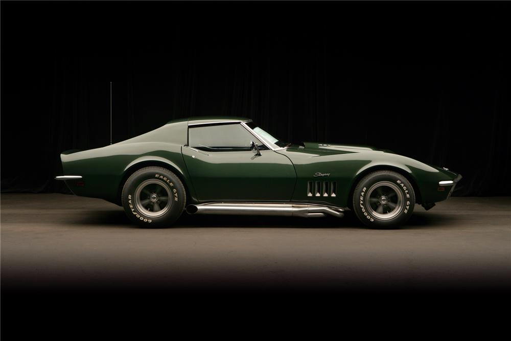 1969 CHEVROLET CORVETTE COUPE - Side Profile - 72040