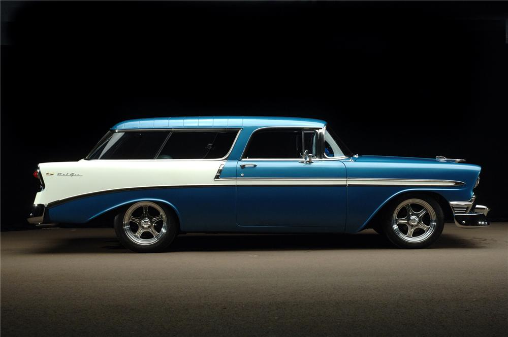 1956 CHEVROLET NOMAD CUSTOM 2 DOOR WAGON - Front 3/4 - 72041