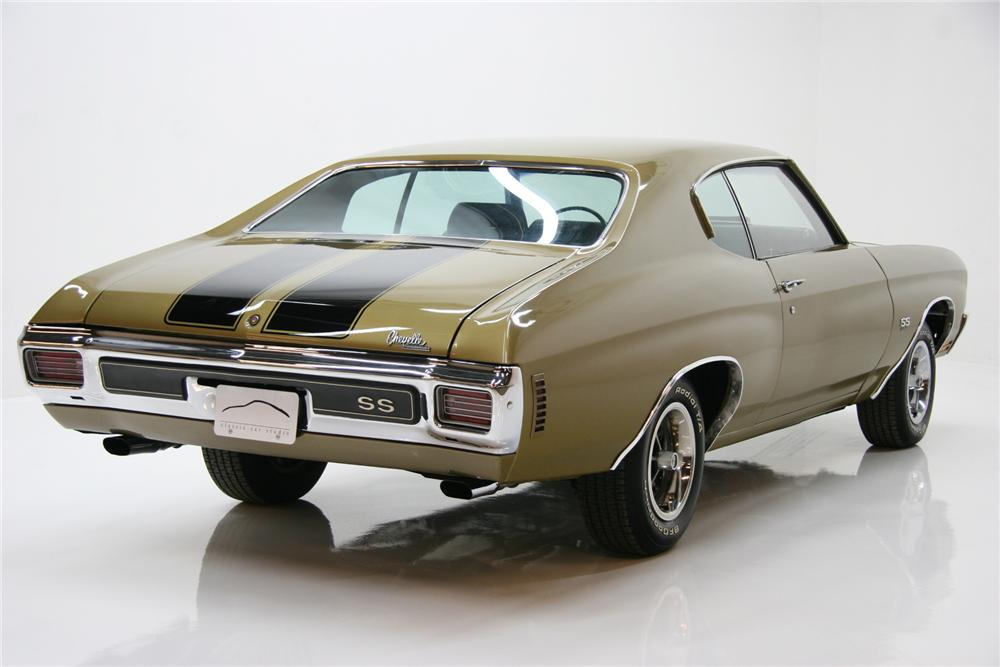 1970 CHEVROLET CHEVELLE LS6 COUPE - Rear 3/4 - 72081
