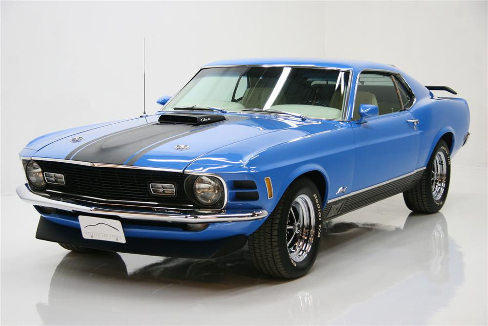 1970 FORD MUSTANG 428 CJ FASTBACK - Front 3/4 - 72083