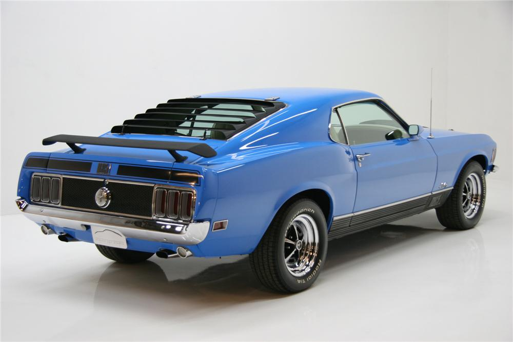 1970 FORD MUSTANG 428 CJ FASTBACK - Rear 3/4 - 72083