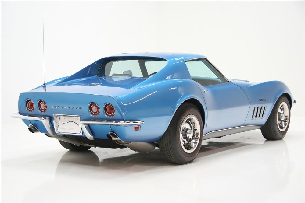1969 CHEVROLET CORVETTE COUPE - Rear 3/4 - 72084
