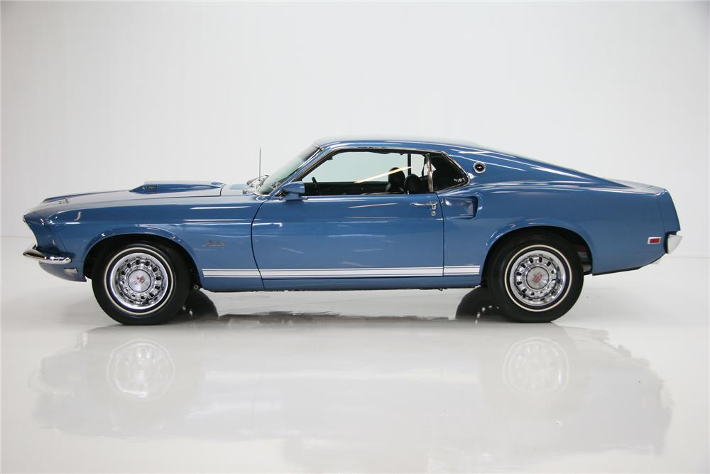 1969 FORD MUSTANG GT FASTBACK - Side Profile - 72085