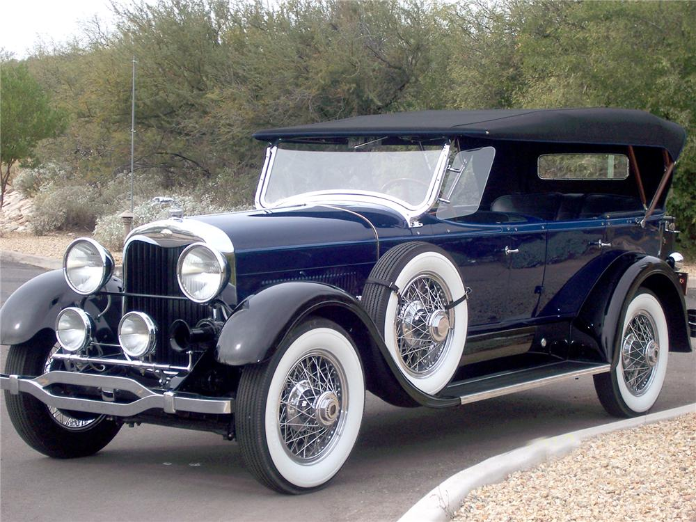 1928 LINCOLN 164 SPORT TOURING - Front 3/4 - 72091