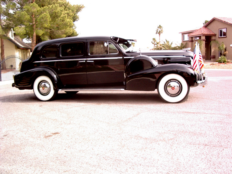 1939 CADILLAC 7533 IMPERIAL TOURING SEDAN - Side Profile - 72363