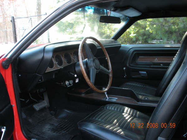 1970 DODGE CHALLENGER R/T COUPE - Interior - 72430