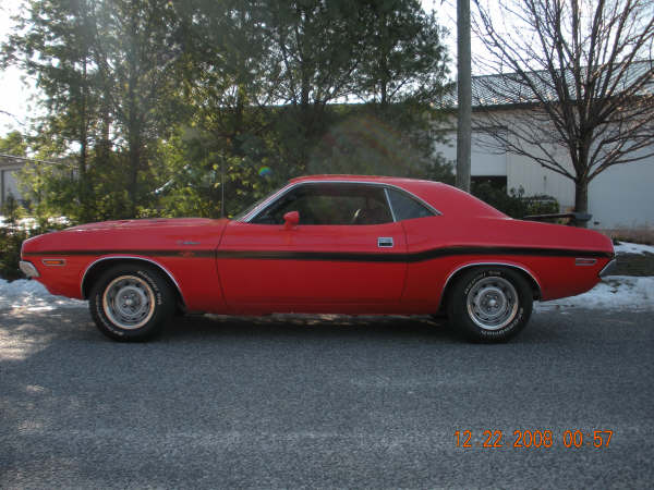 1970 DODGE CHALLENGER R/T COUPE - Side Profile - 72430