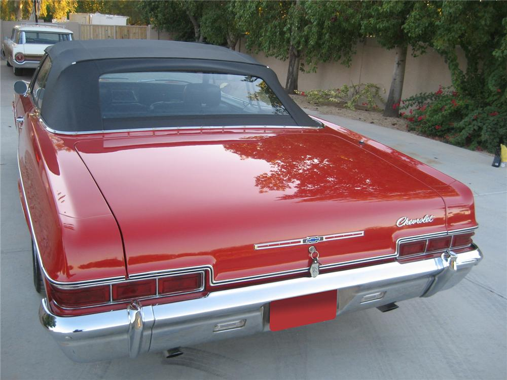 1966 CHEVROLET IMPALA CONVERTIBLE - Rear 3/4 - 72437