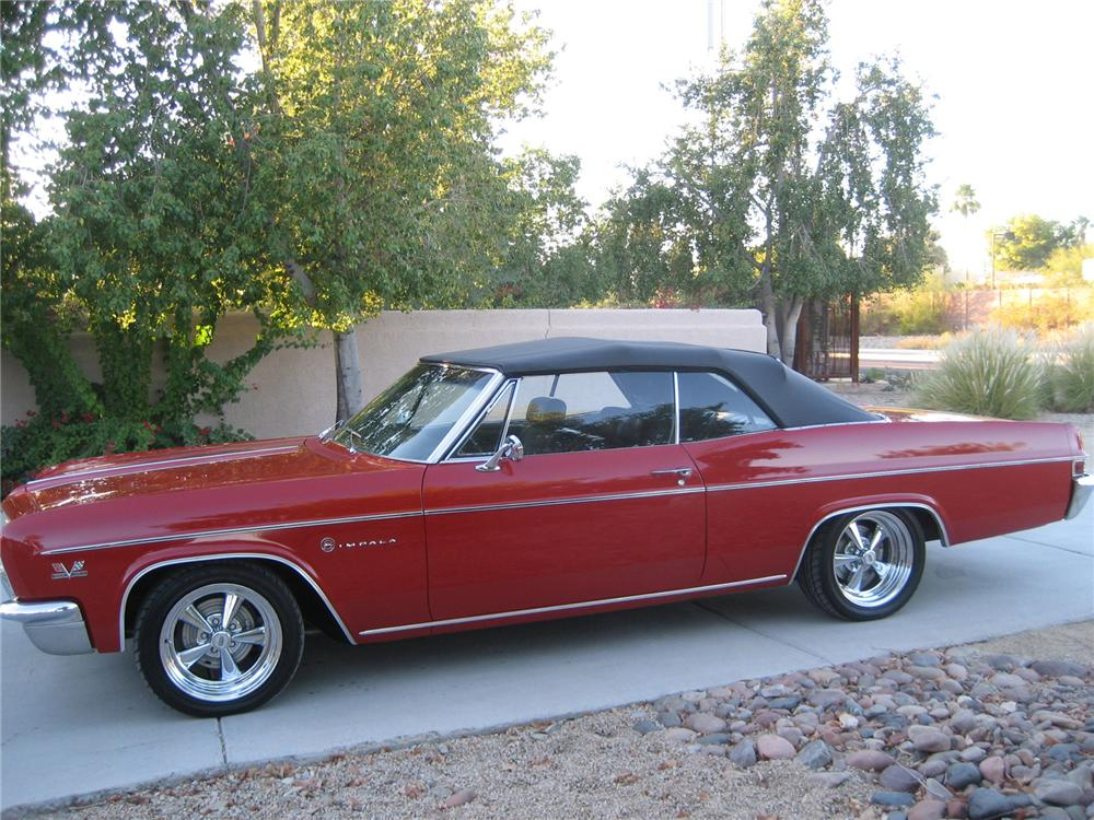 1966 CHEVROLET IMPALA CONVERTIBLE - Side Profile - 72437