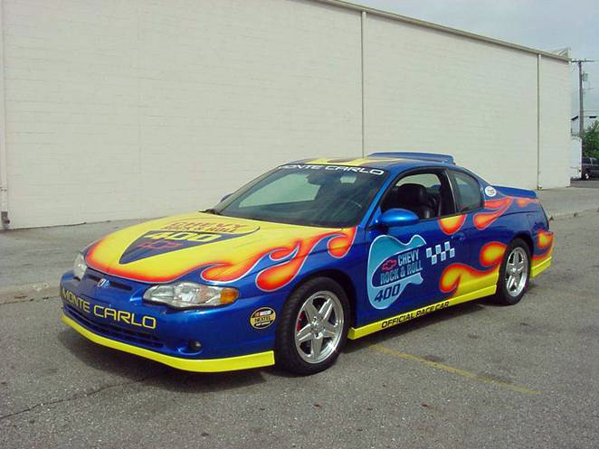 "2004 CHEVROLET MONTE CARLO ""ROCK & ROLL"" PACE CAR - Front 3/4 - 72721"
