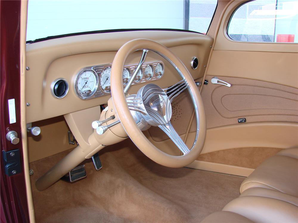 """1933 FORD 3 WINDOW CUSTOM COUPE """"RUSTY WALLACES"""" - Interior - 72754"""