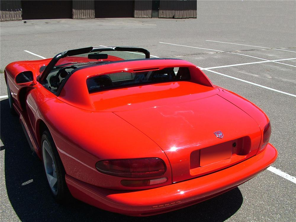 1994 DODGE VIPER RT/10 CONVERTIBLE - Rear 3/4 - 72775