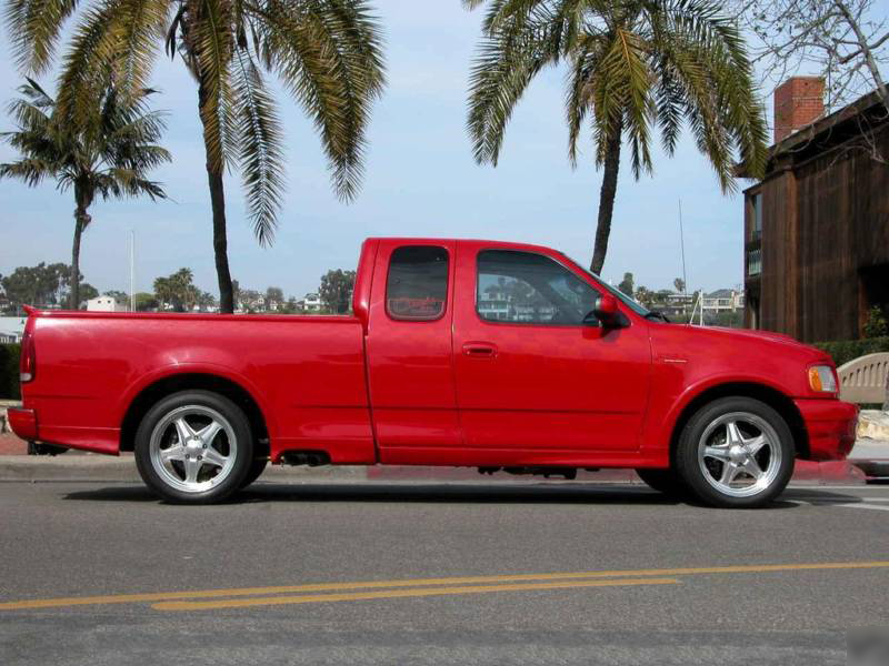 1997 FORD F-250 EXTENDED CAB CUSTOM PICKUP - Side Profile - 73019