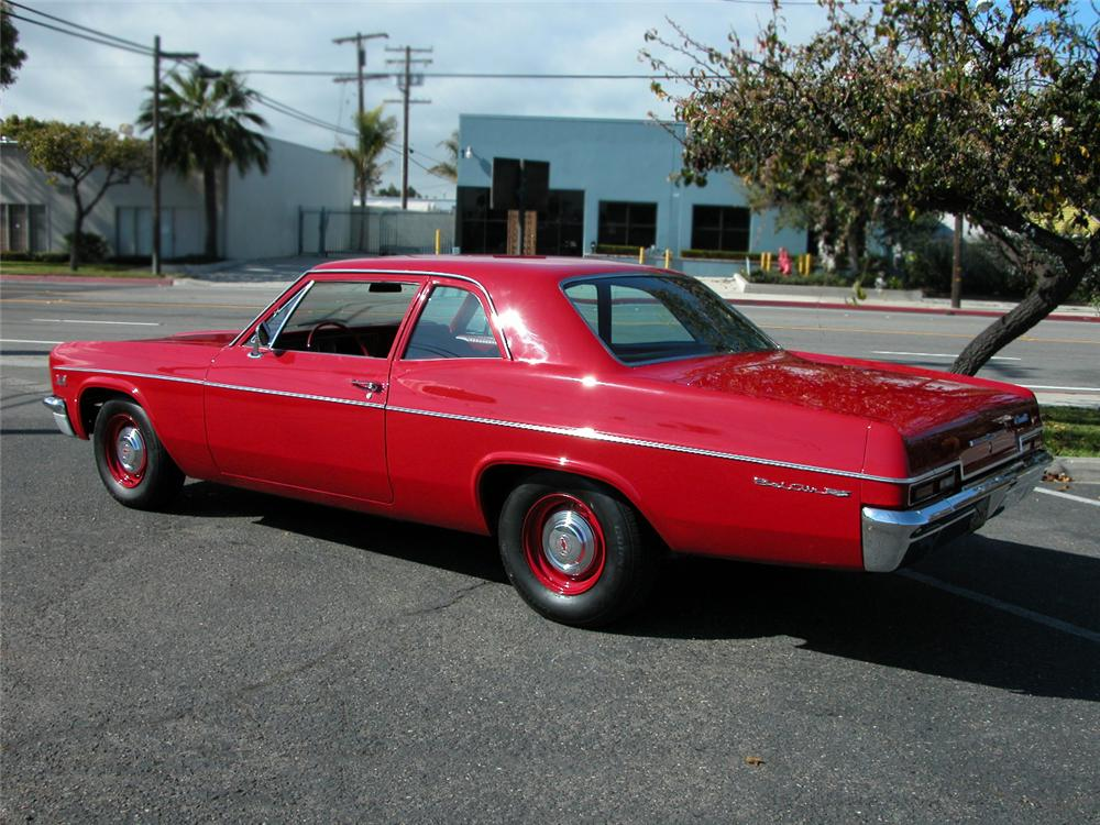 1966 CHEVROLET BEL AIR 2 DOOR SEDAN - Rear 3/4 - 73027
