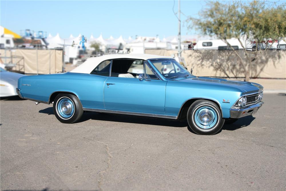 1966 CHEVROLET CHEVELLE SS 396 CONVERTIBLE - Side Profile - 73029