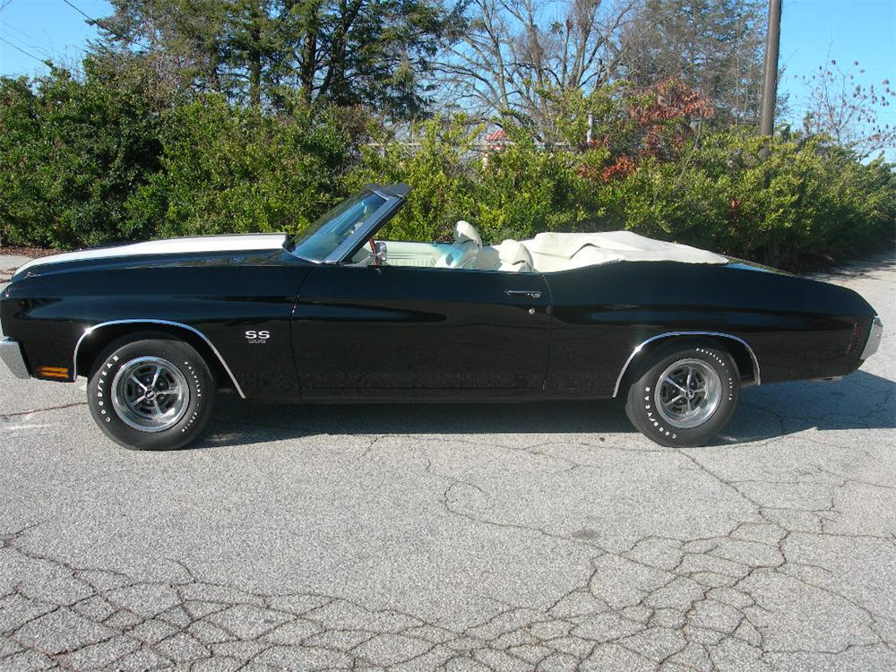 1970 CHEVROLET CHEVELLE SS 396 CONVERTIBLE - Side Profile - 74996
