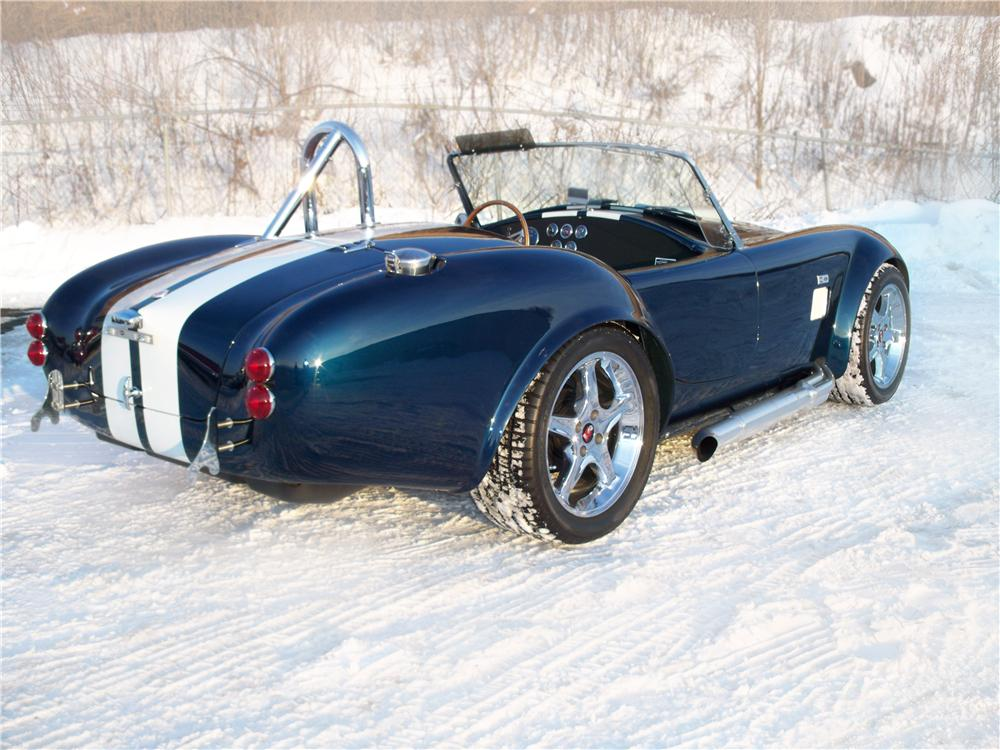 2005 FACTORY FIVE SHELBY COBRA RE-CREATION ROADSTER - Rear 3/4 - 75010