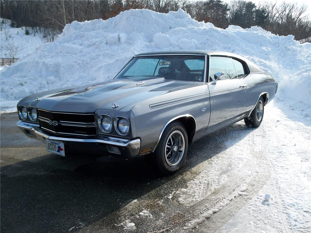1970 CHEVROLET CHEVELLE SS CUSTOM COUPE - Front 3/4 - 75011