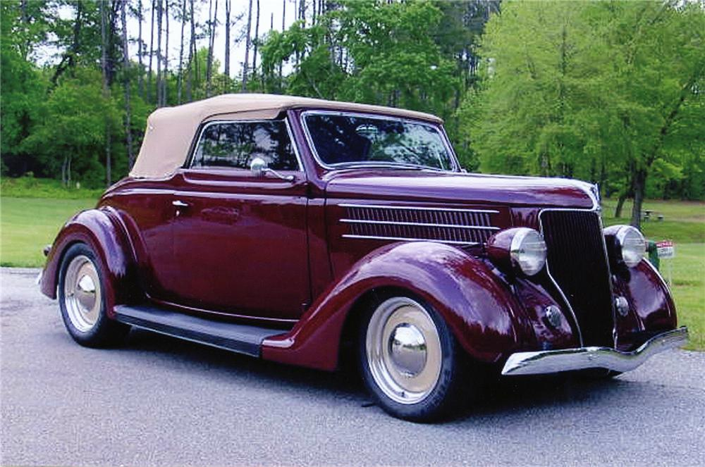 1936 FORD CABRIOLET CUSTOM CONVERTIBLE - Front 3/4 - 75020