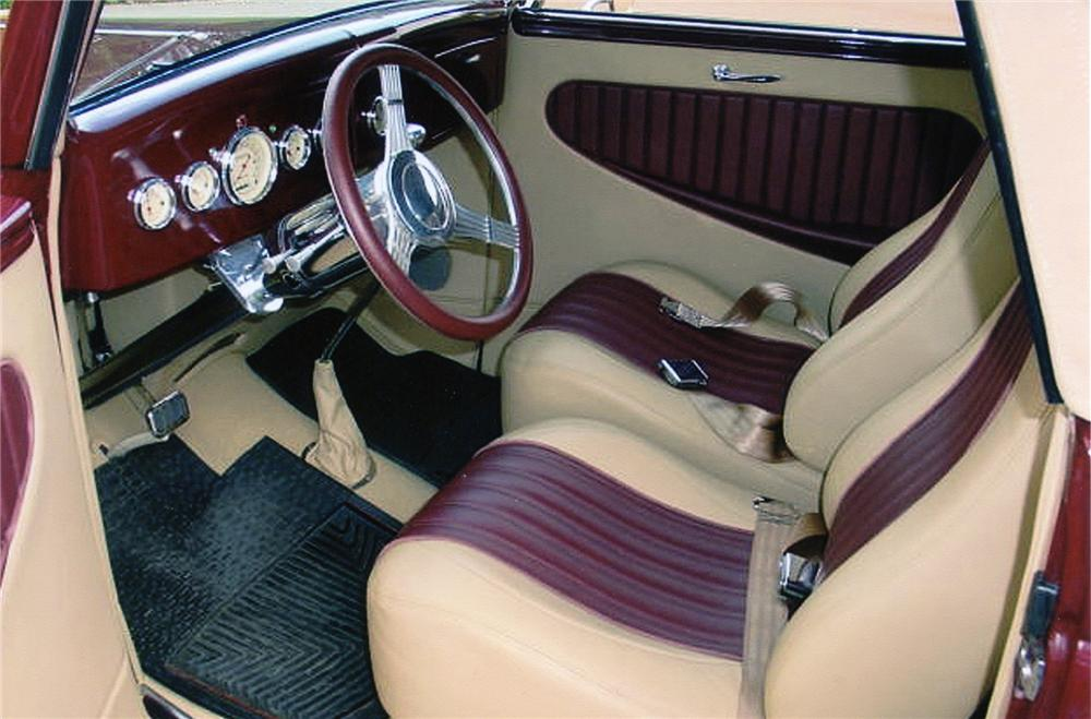 1936 FORD CABRIOLET CUSTOM CONVERTIBLE - Interior - 75020
