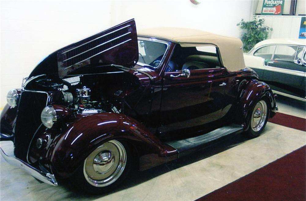 1936 FORD CABRIOLET CUSTOM CONVERTIBLE - Side Profile - 75020