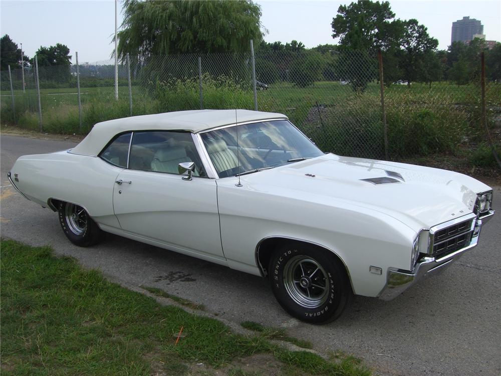 1969 BUICK GRAN SPORT GS 400 CONVERTIBLE - Side Profile - 75027