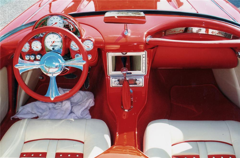 1959 CHEVROLET CORVETTE CUSTOM CONVERTIBLE - Interior - 75035