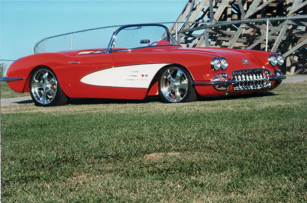 1959 CHEVROLET CORVETTE CUSTOM CONVERTIBLE - Side Profile - 75035