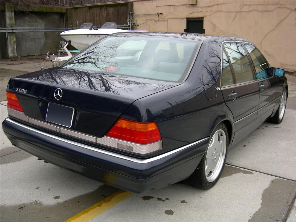 1996 MERCEDES-BENZ S600 4 DOOR SEDAN - Rear 3/4 - 75036
