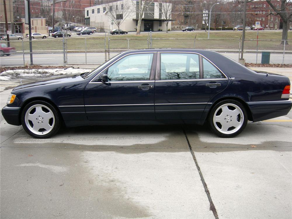 1996 MERCEDES-BENZ S600 4 DOOR SEDAN - Side Profile - 75036