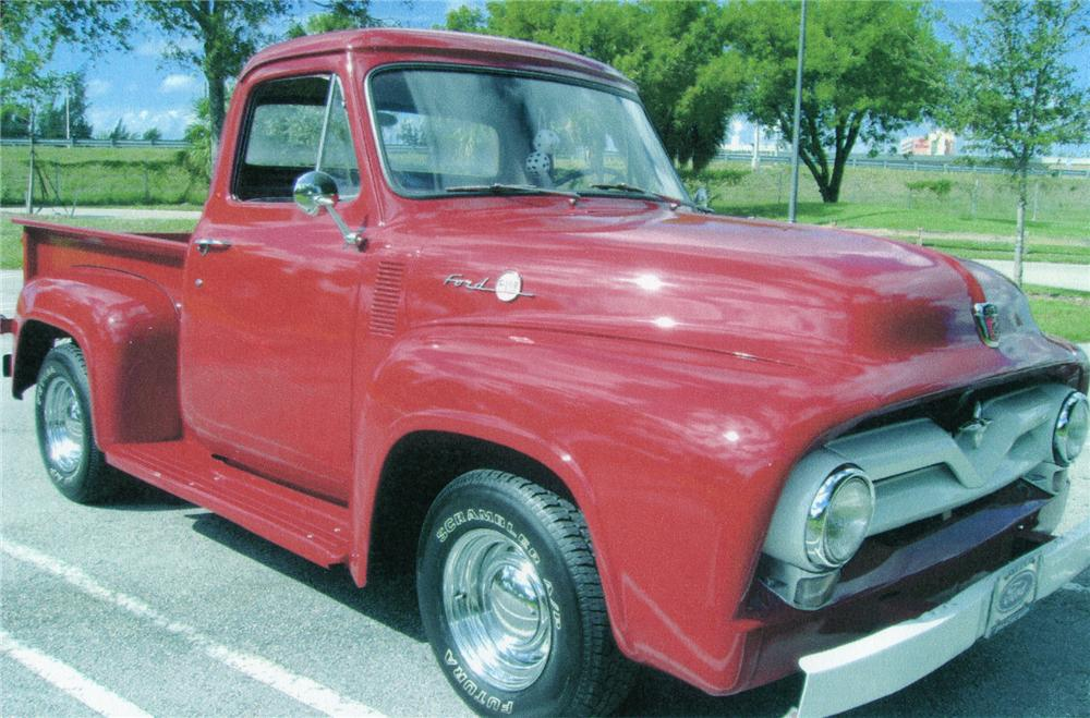 1955 FORD F-100 PICKUP - Front 3/4 - 75041