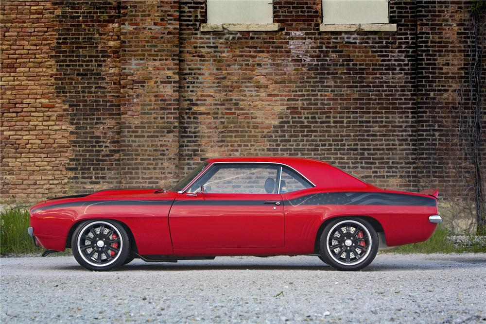 """1969 CHEVROLET CAMARO RS/SS CUSTOM """"PROJECT AMERICAN HEROES"""" - Side Profile - 75065"""