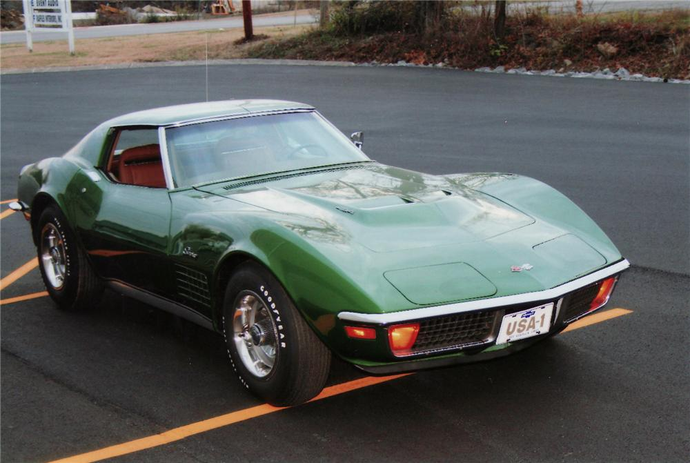 1972 CHEVROLET CORVETTE COUPE - Front 3/4 - 75112