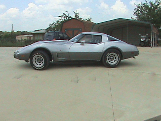 1978 CHEVROLET CORVETTE COUPE 25TH ANNIVERSARY EDITION - Side Profile - 75119
