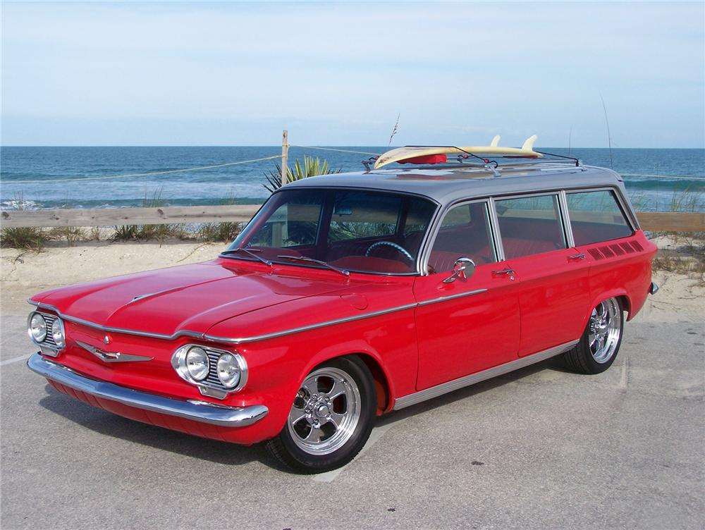 1962 CHEVROLET CORVAIR CUSTOM STATION WAGON - Front 3/4 - 75120