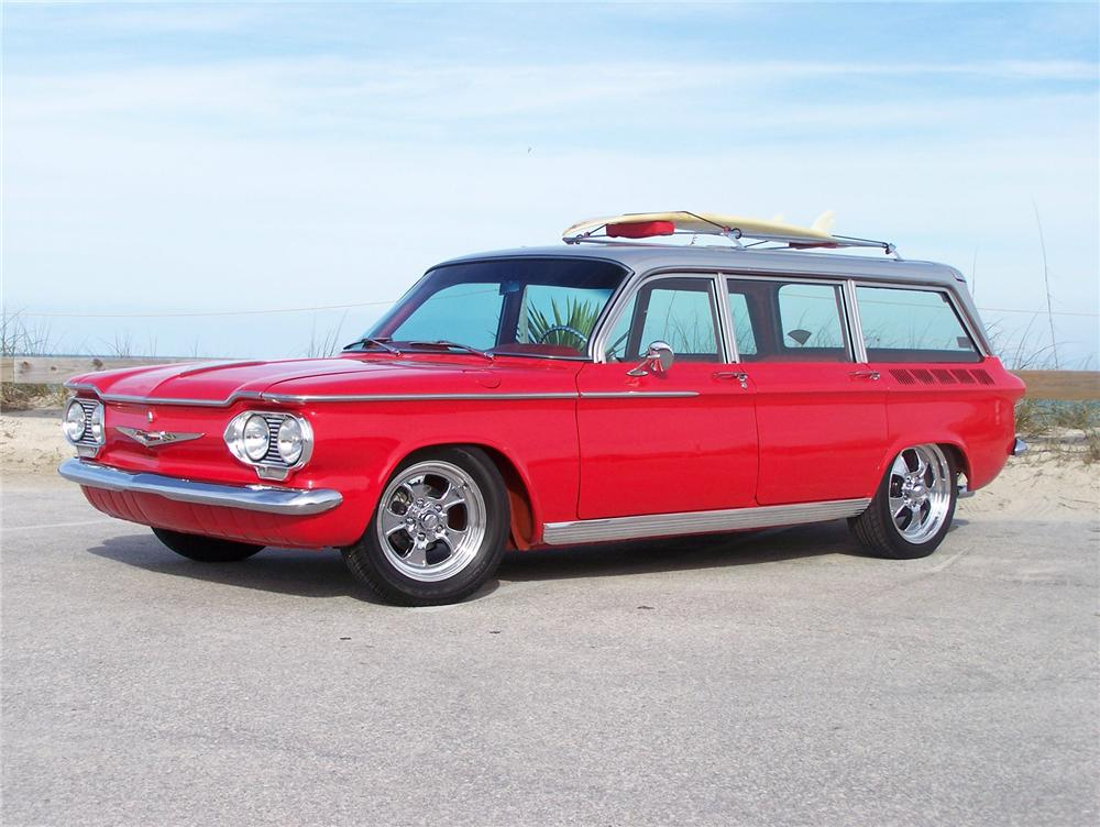 1962 CHEVROLET CORVAIR CUSTOM STATION WAGON - Side Profile - 75120