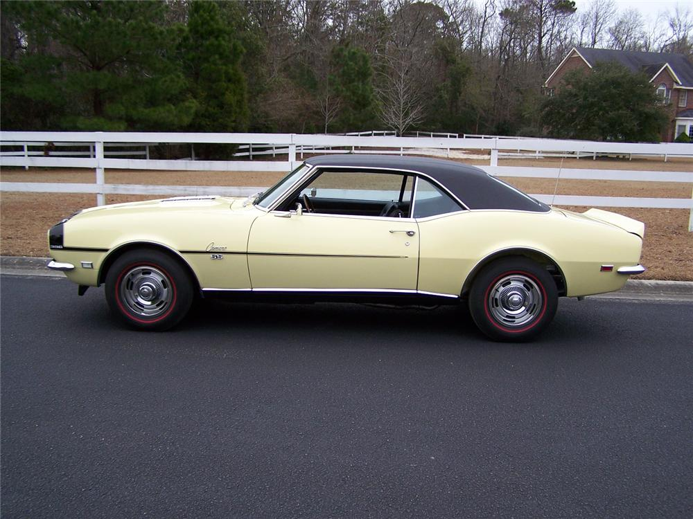 1968 CHEVROLET CAMARO RS/SS COUPE - Side Profile - 75125