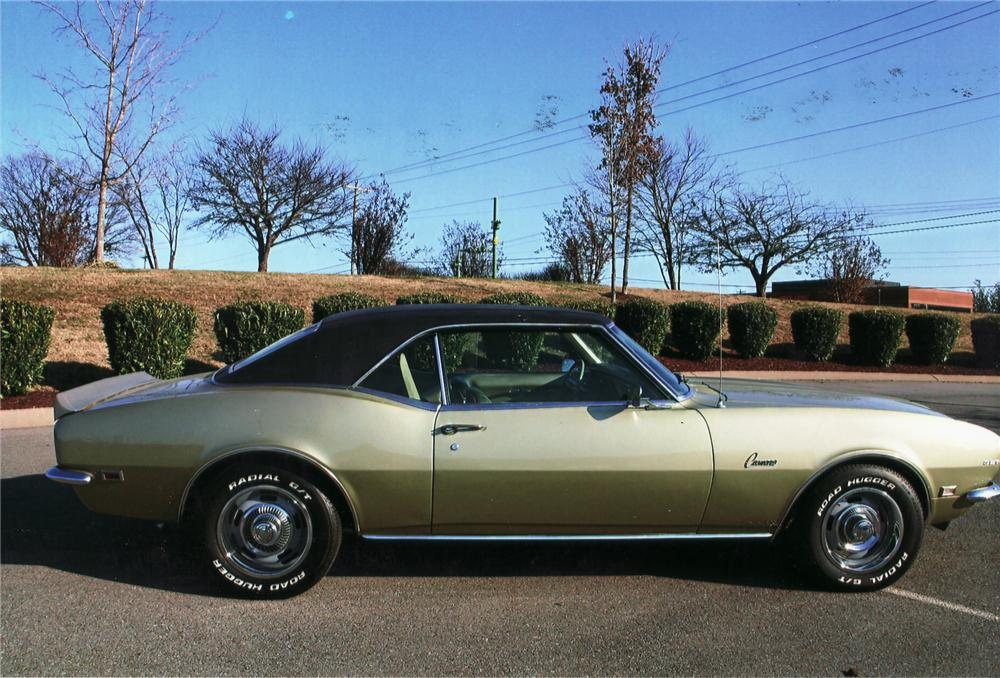 1968 CHEVROLET CAMARO COUPE - Side Profile - 75127