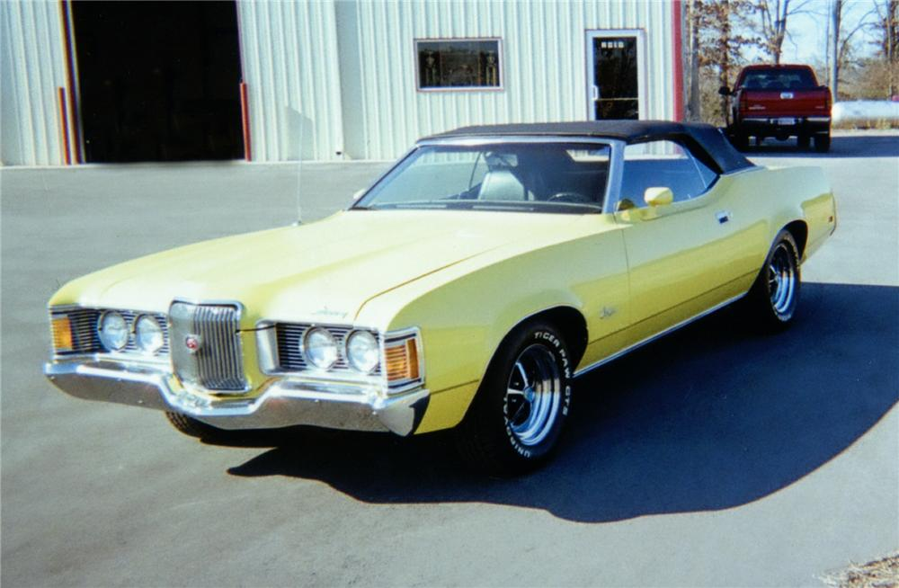 1972 MERCURY COUGAR XR7 CONVERTIBLE - Front 3/4 - 75141