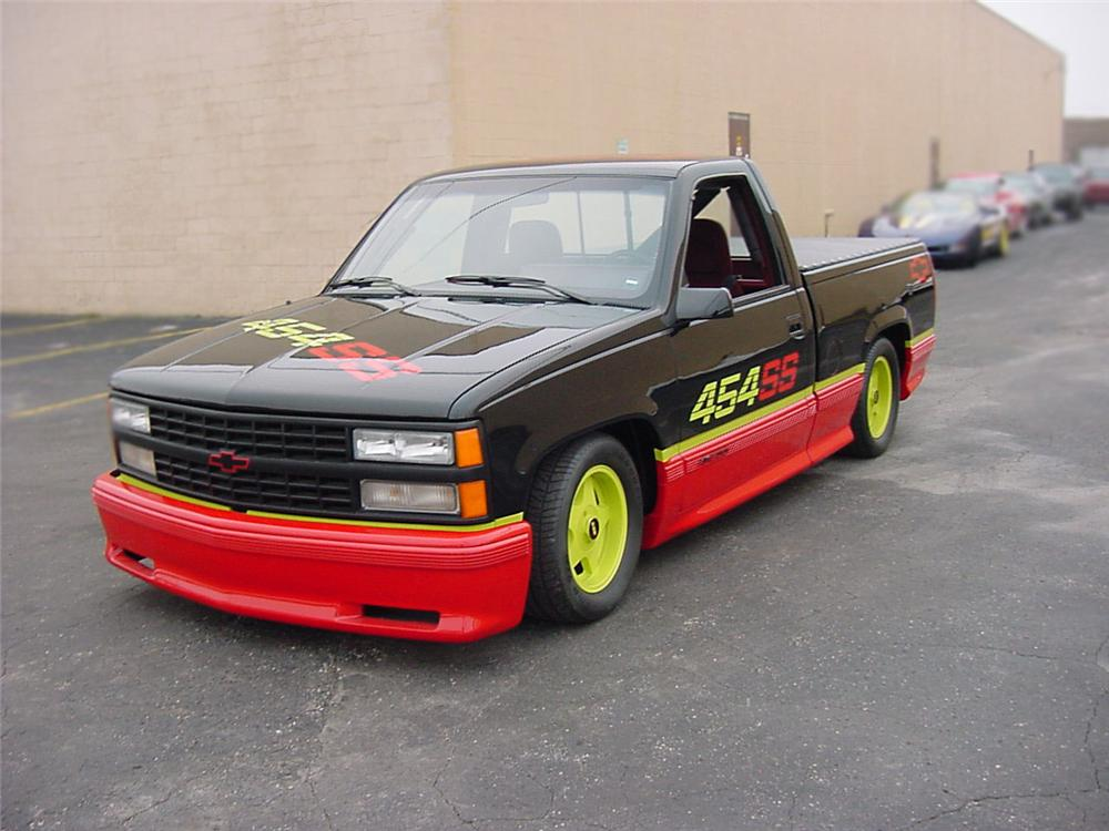 1988 CHEVROLET 454SS LIME ROCK RACE TRUCK - Front 3/4 - 75219