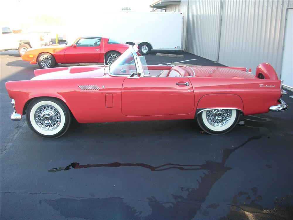 1956 FORD THUNDERBIRD CONVERTIBLE - Side Profile - 75223