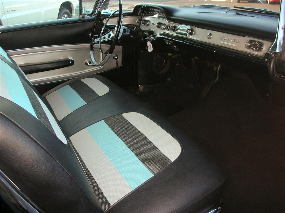 1958 CHEVROLET IMPALA 2 DOOR HARDTOP - Interior - 75224